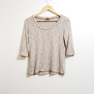 Urban Outfitters Sparkle & Fade Tan Knit Sweater
